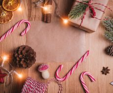 Festive objects on a table