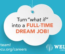 """turn """"what if"""" into a full-time job graphic"""