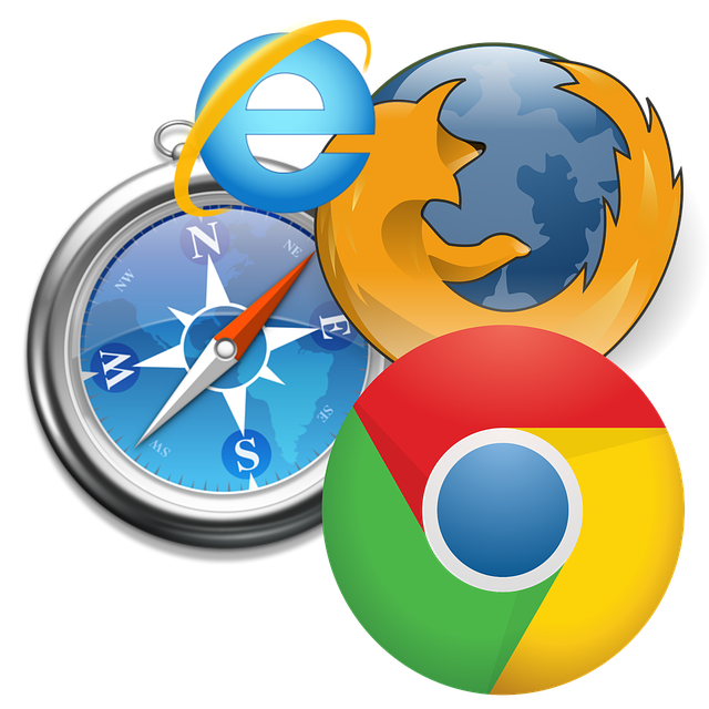 logos for Safari, Chrome, Firefox and IE
